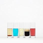 Various liqueurs