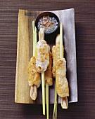 Fish and shrimp skewers