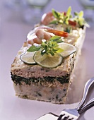 Seafood terrine with spinach
