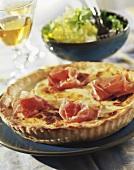 Cheese tart with ham