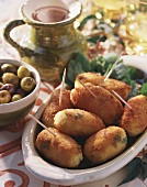 Cheese and potato croquettes