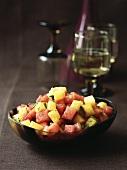 Melon and pineapple salad