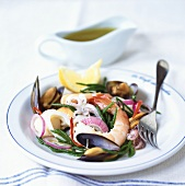 Seafood salad with samphire