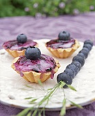Blueberry almond tarts