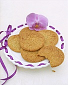 Ginger biscuits on plate