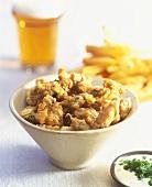 Deep-fried mussels