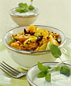 Fruit curry with lentils and spices