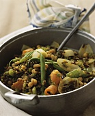 Spicy legume stew with wild rice