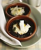 Baked Portobello mushrooms with egg