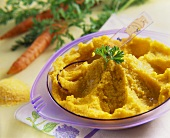 Carrot and sweetcorn puree