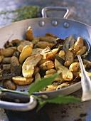 Pommes de terre au four (Baked potatoes with herbs)