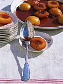 Pêches au Banyuls (Peaches in wine, France)