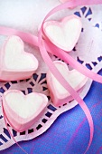 Marshmallow hearts for Valentine's Day
