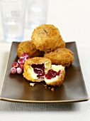 Deep-fried Camembert with cranberries