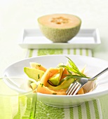 Melon and avocado salad