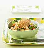 Chicken with asparagus and grapefruit