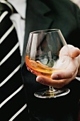 Swirling cognac