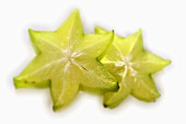 Two slices of carambola
