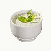 Herb mayonnaise in a small bowl
