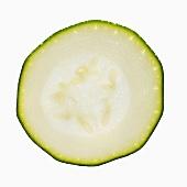 Eine Zucchinischeibe