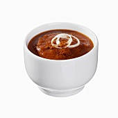 Barbecue sauce in a small bowl