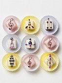 Sweets decorated with earrings
