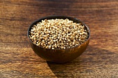 Wheat in a small bowl