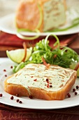 Salmon terrine with soft cheese