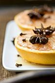 Baked grapefruit with honey