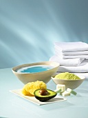 Bath products, sponge and towels