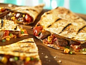 Quesadillas with beef filling