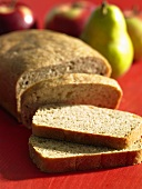 Wholemeal wheat and rye bread, partly sliced