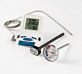 Different kinds of meat thermometers