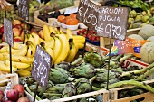 Fruit and vegetables on a market stall in Italy