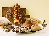 An assortment of bread and bread rolls