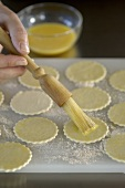 Making salami tarts