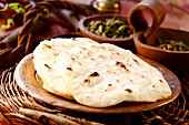 Chapatis (Indian flatbread cooked in frying pan)