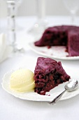 Summer pudding (Soft fruit encased in bread,  UK)