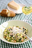 Vegetable risotto with grated Parmesan