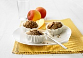 Oat and apple muffins