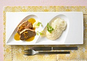 Beef medallions with celery puree