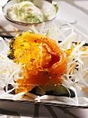 Gravlax with caviar