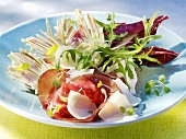 Artichoke salad with Bündnerfleisch (air-dried beef) & Parmesan