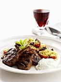 Grilled lamb chops with bulgur wheat