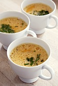 Three cups of beaten egg and chives