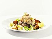 Crab salad on toasted rye bread
