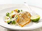 Redfish fillet with glass noodle salad