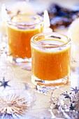 Fruit punch in glasses for Christmas