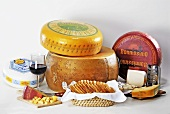 A selection of cheeses from Holland and Italy