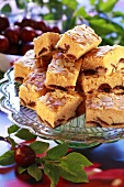Plum cake with flaked almonds